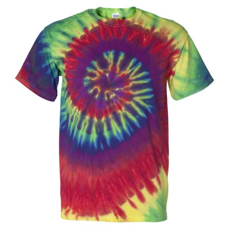 Tie-Dye 200MS Multi-Color Spiral Short Sleeve T-Shirt - Tie Dye Shirts For Sale