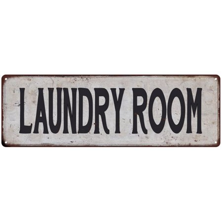 LAUNDRY ROOM Vintage Look Rustic 6x18 Metal Sign Chic Retro 206180035117