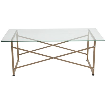 Mar Vista Collection Coffee Table with Metal Frame