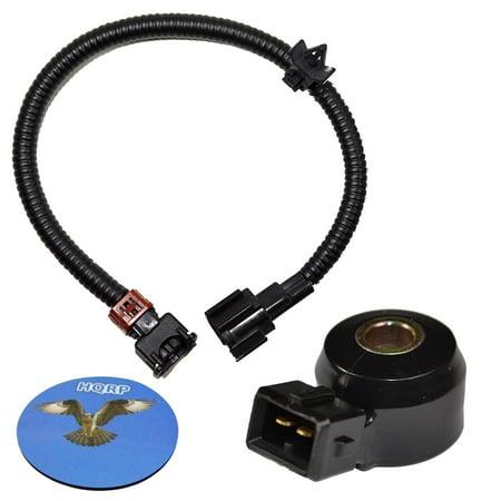 HQRP Knock Sensor w/ Wiring Harness for Nissan 200SX 240SX Altima D21 Frontier Maxima Pathfinder Pickup Quest Xterra Infiniti G20 I30 J30 Q45 QX4 90-02 24079-31U01 22060-30P00 KS-24 + Coaster