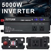 5000W Power Inverter DC12V to AC110V Sine Wave Convert with 4 USB Ports 2 Sockets for Camp Home