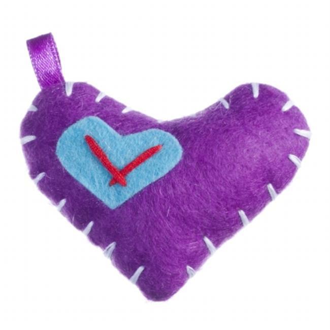 I Like U 0034PU I Like U Purple Pack Package of 5 Puffy Hearts