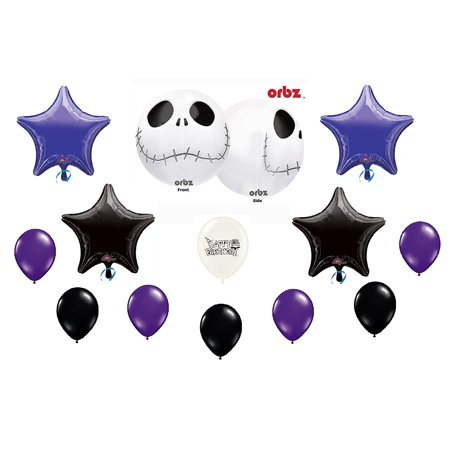Jack Skellington Nightmare Before Christmas Birthday Party Balloon Bouquet - Nightmare Before Christmas Birthday Halloween Party Supplies