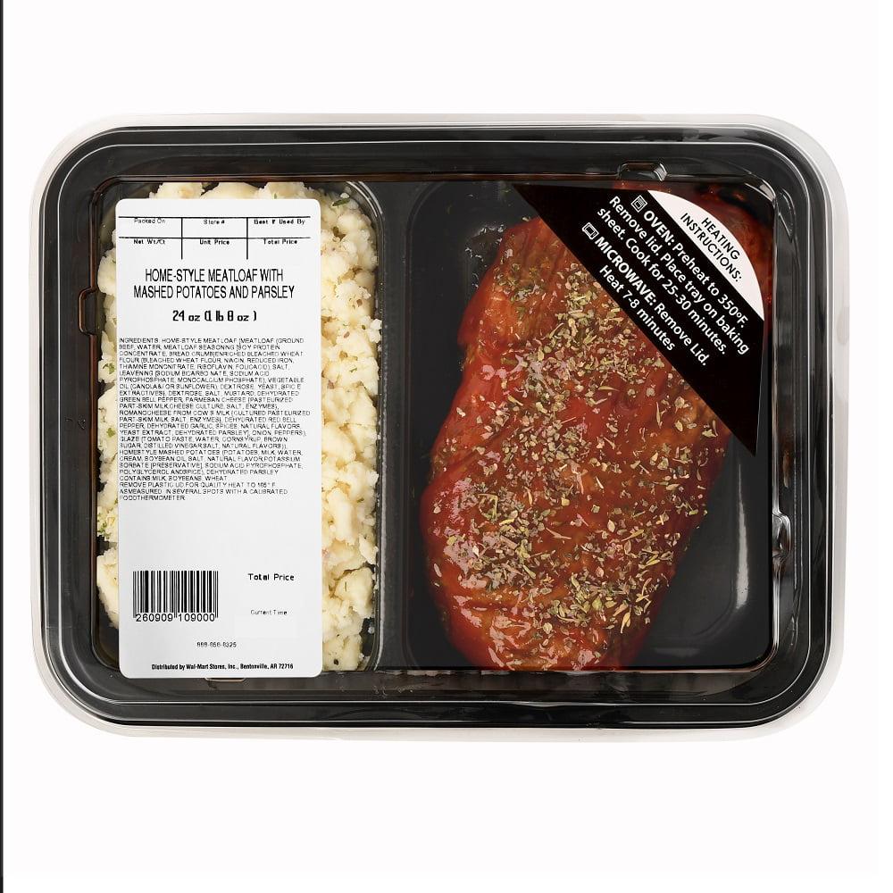 Homestyle Meatloaf with Mashed Potatos Prepared Meal Kit, Serves 2