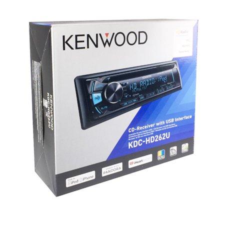 Kenwood Kdc Hd262u In Dash 1 Din Front Usb Cd Am Fm Car Stereo