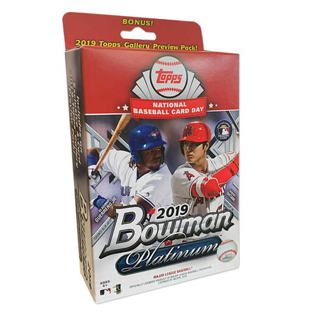 2019 Topps Bowman Platinum National Baseball Card Day Special Edition Hanger Box 2003 Topps Baseball Card