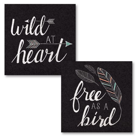 Gango home decor casual free as a bird black two 12x12in unframed paper posters walmart com