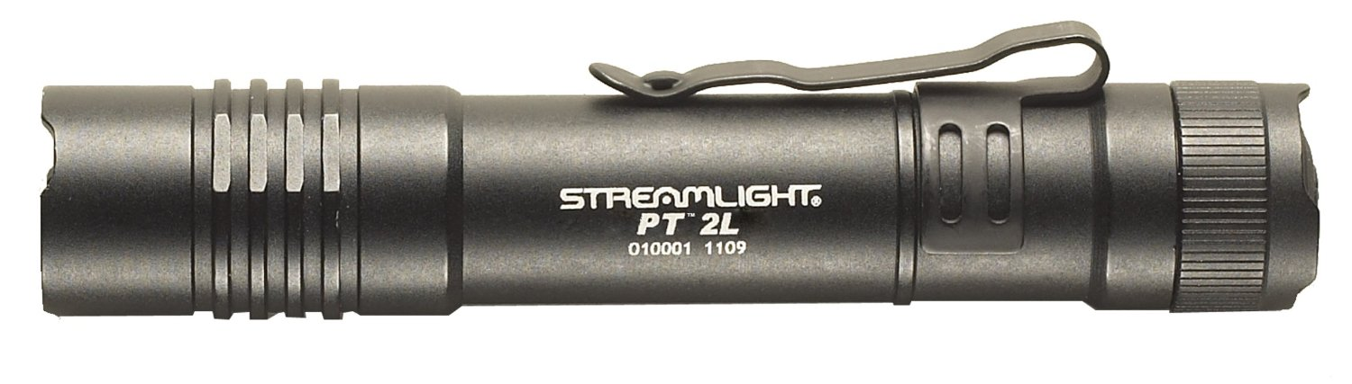 Streamlight Black ProTac Professional Tactical Flashlight With Removable Pocket Clip (2 3 Volt CR123A lthium Batteries... by Streamlight Inc