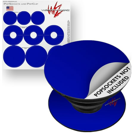 Decal Style Vinyl Skin Wrap 3 Pack for PopSockets Solids Collection Royal Blue (POPSOCKET NOT INCLUDED) by WraptorSkinz Royal Blue 3 Piece