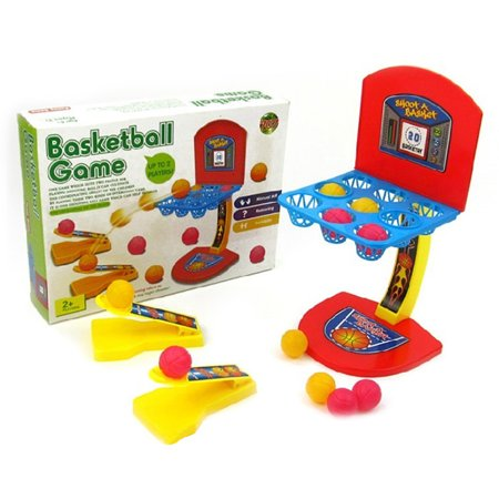 Desktop Interactive Game Mini Basketball Shooting Toys Set Colorful Marbles Game for Children Toy Tin Marbles