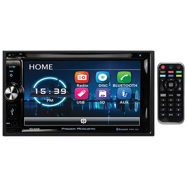 "Power Acoustik PD-625B 6.2"" Incite Double-DIN In-Dash Detachable LCD Touchscreen DVD Receiver with Bluetooth"