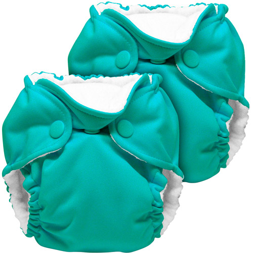 Kanga Care Lil Joey All in One Peacock Newborn Cloth Diaper, 2 count