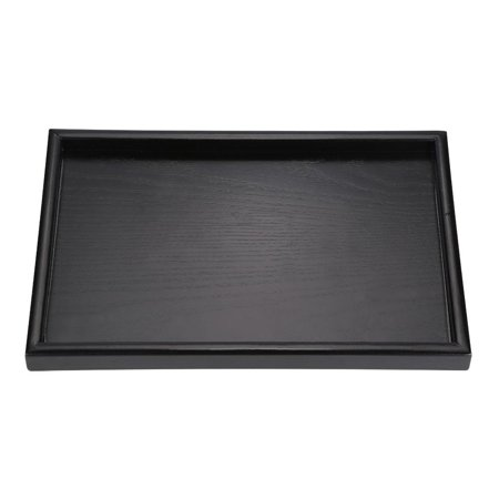 HURRISE Rectangle Shape Solid Wood Tea Coffee Snack Food Meals Serving Tray Plate Restaurant Trays - image 3 de 8
