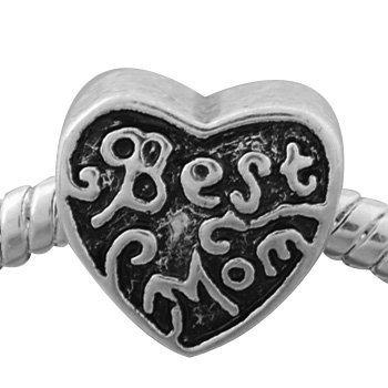 Best Mom Charm Bead. Fits Troll, Zable, Baigi, Chamilia Charm