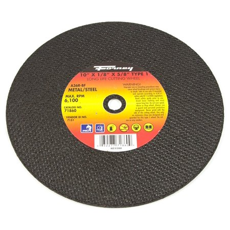 71860 Chop Saw Blade with 5/8-Inch Arbor, Metal Type 1, A36R-BF, 10-Inch-by-1/8-Inch, Aluminum oxide metal cutting wheel By