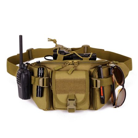 New Large Fanny Pack Waist Bag Fanny Pack Belt Bag Travel Wallet Hip Pouch with Water Bottle and Cell Phone Pouch ()