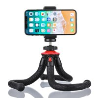 Tripod for Phone & Camera, 28.5cm Flexible Tripod with h Remote & Phone Holder for Smartphone, Camera Tripod with Action Camera Adapter for Action Camera, DSLR