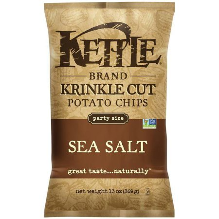 - Kettle brand krinkle cut sea salt potato chips, 14 oz (pack of 10)