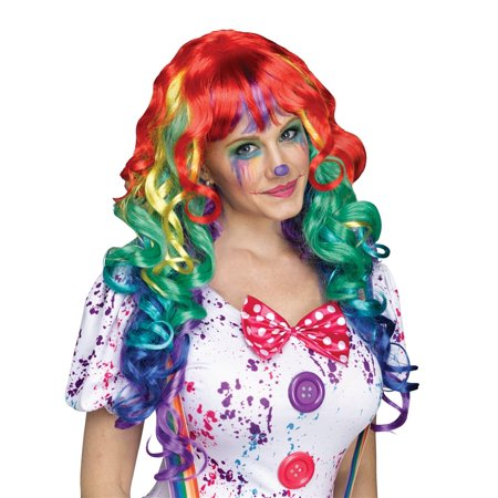 Rainbow Curlz Adult Wig - Rainbow Bright Wig