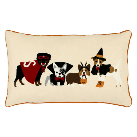 Dog Costumes Embroidered Halloween Pillow - Creative And Cheap Halloween Costumes