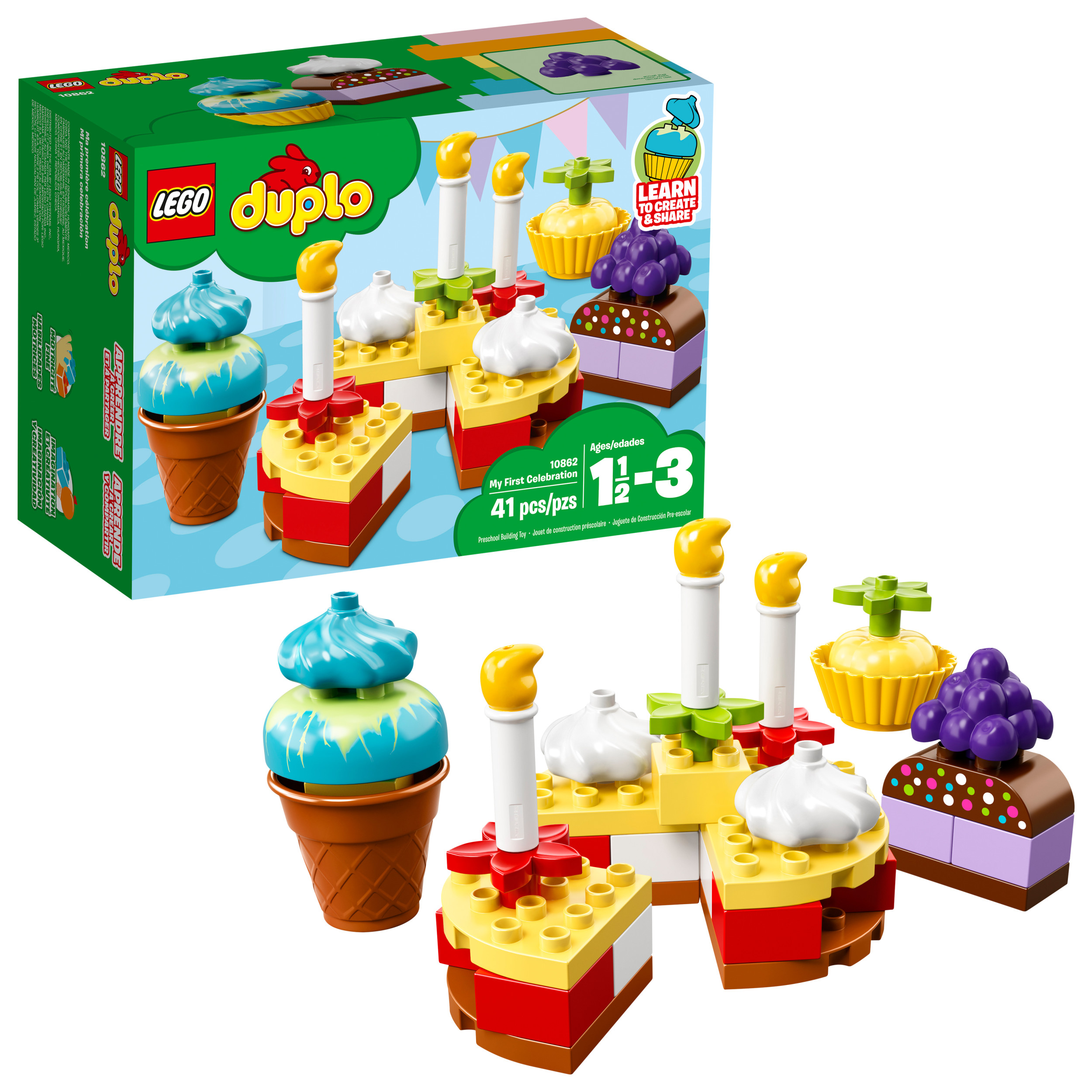 Lego Duplo My First Celebration 10862 Building Blocks 41 Pieces