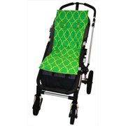 Tivoli Couture MFSL 1087 Luxury Memory Foam Stroller Liner, Morrocan Lattice - green