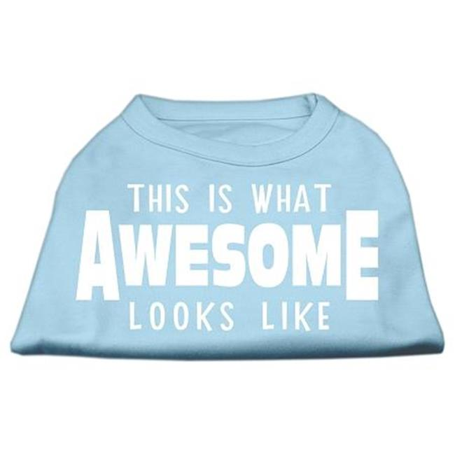 This Is What Awesome Looks Like Dog Shirt Baby Blue Sm (10) - image 1 de 1