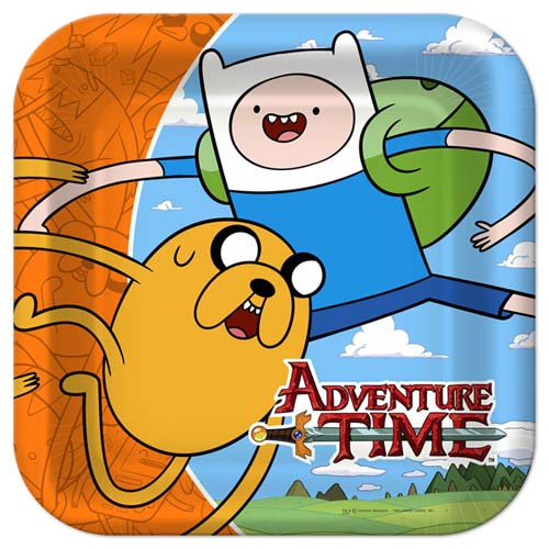 Adventure Time Square Dinner Plates 8 Pack