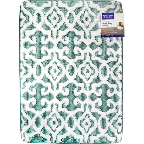 Better Homes & Gardens Jacquard Memory Foam Bath Rug by Refine