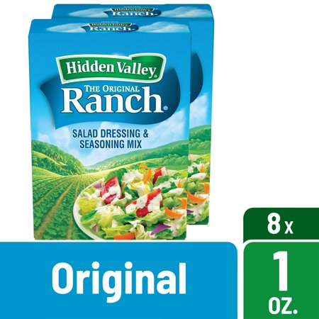 Hidden Valley Original Ranch Salad Dressing & Seasoning Mix, Gluten Free - 8