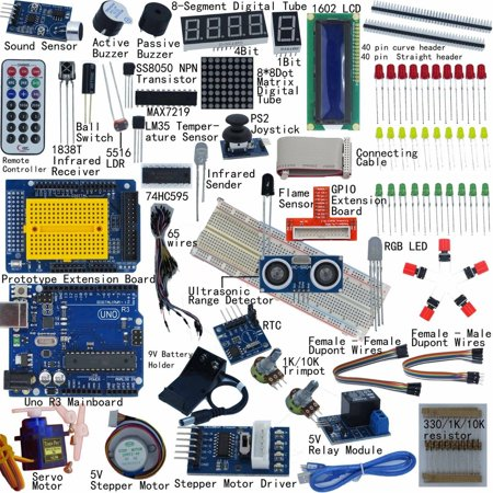 NEW Ultimate UNO R3 Starter Kit for Arduino 1602 LCD Servo
