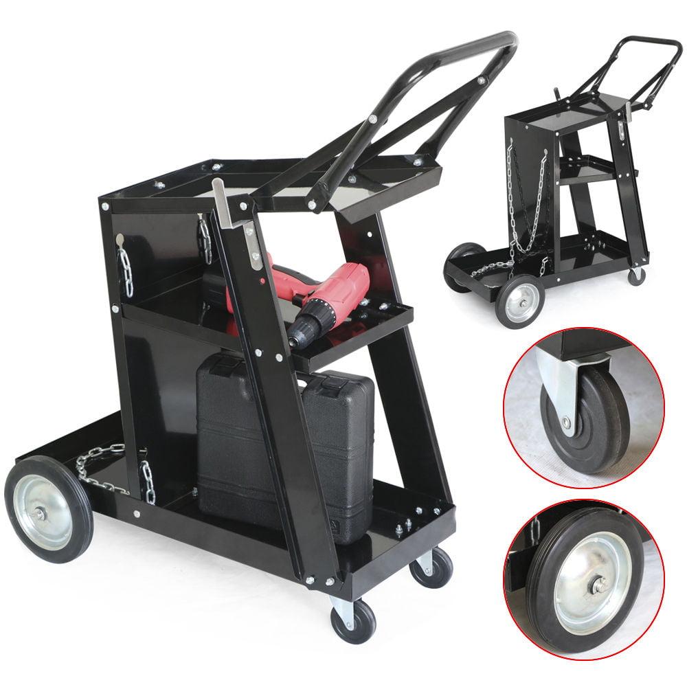 Zimtown Mig Tig Arc Welding Cart Trolley Plasma Cutter Tank Storage, 360 Front Wheels