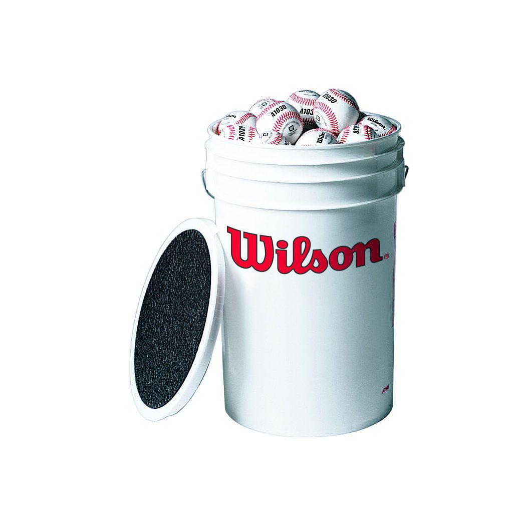 Wilson X-Out Bucket Combo - 3 Dz. A1010S Baseballs in Bucket 9.00in