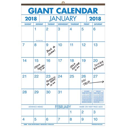 2 Year Giant Calendar