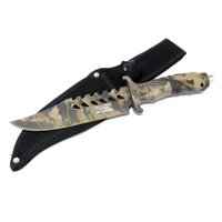 "Defender Xtreme 10.5""Fixed Blade Camouflage Hunting Sharp Knife Stainless Steel"