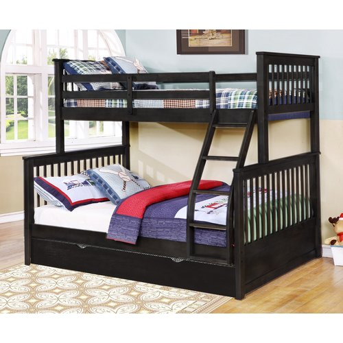 Harriet Bee Auguste Twin Over Full Bunk Bed with Trundle