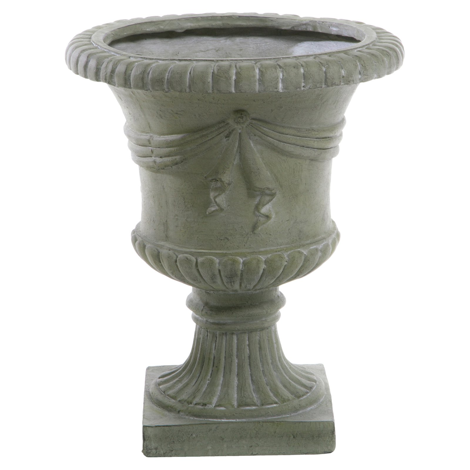 aluminum venetian urn cast medium flower planter med
