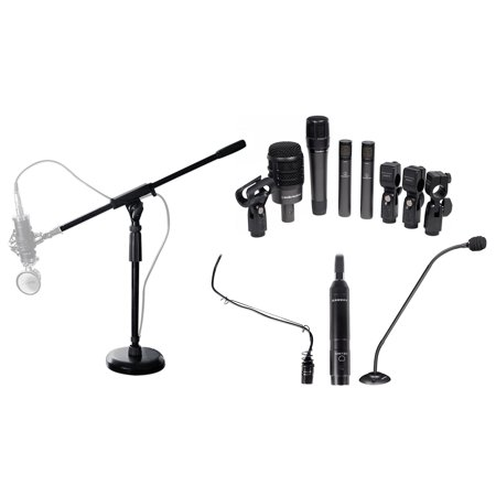 Audio Technica 4) Drum Microphone Kit+Choir+Podium Mics