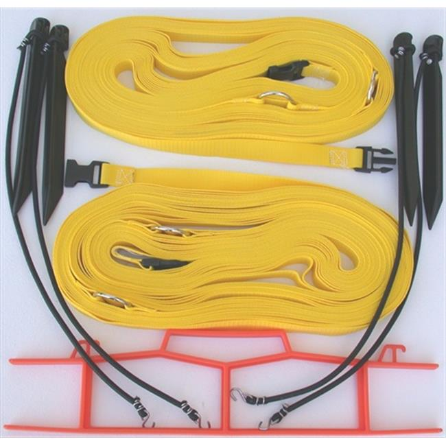 Home Court M817NAYS 8 Meter Yellow 1-inch Non-adjustable Web Courtlines