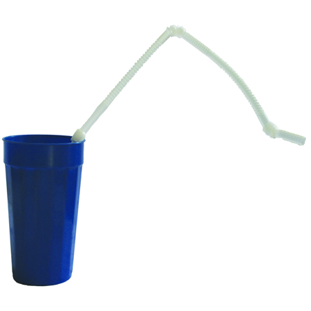 "Kinsman Extra Long 28"" Flexible Drinking Straw, Pack of 5"