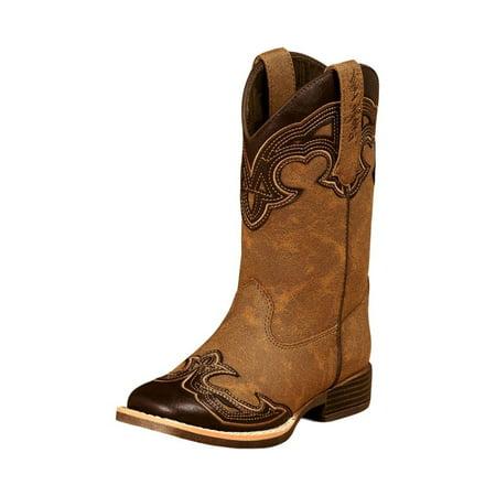 Blazin Roxx Western Boots Girls Kids Samantha Zip Brown 4449002