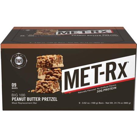 Met Rx Big 100 Bar  32 Grams Of Protein  Peanut Butter Pretzel  3 52 Oz  9 Ct