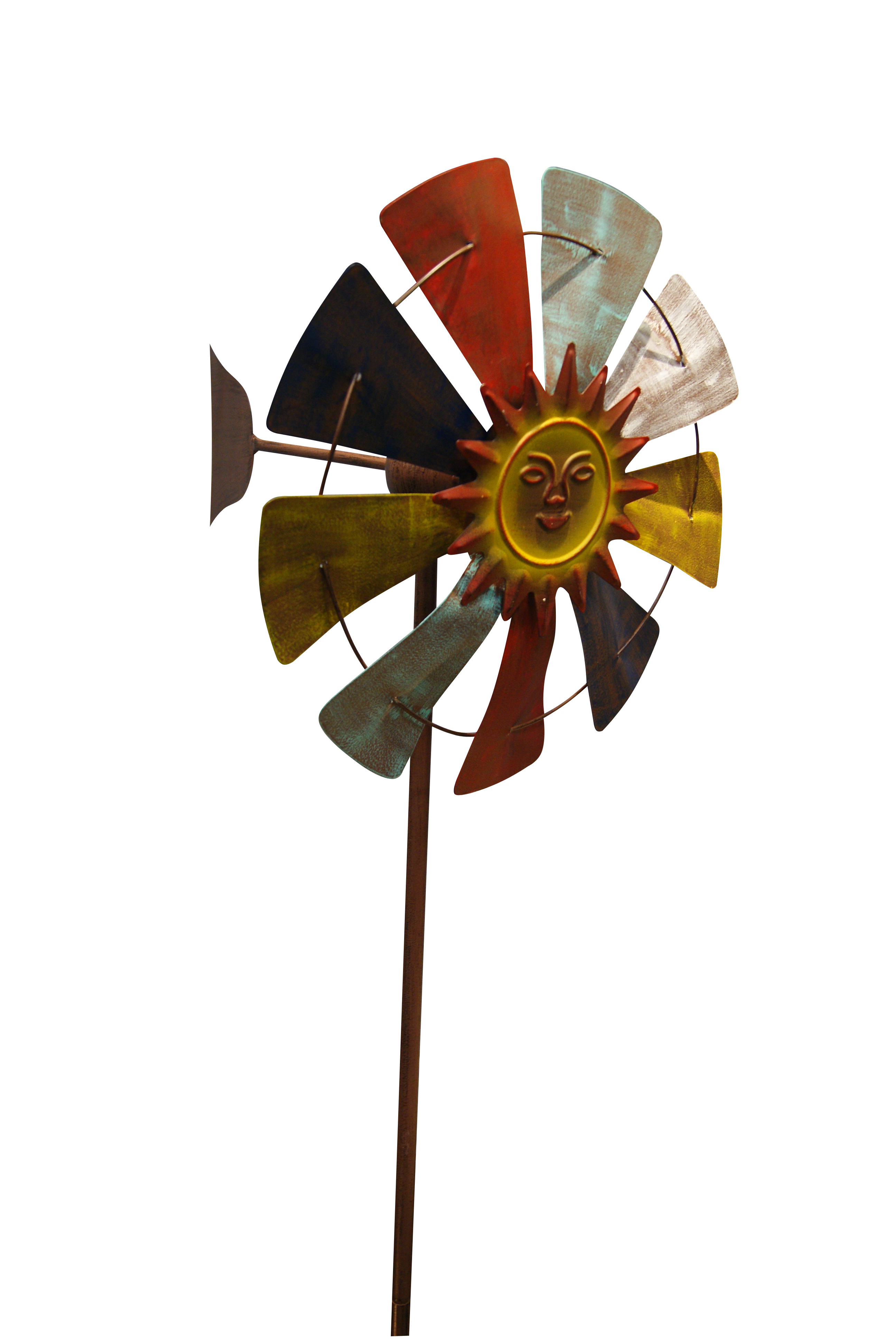 70 Inch Multicolor Windmill Stake by Benzara