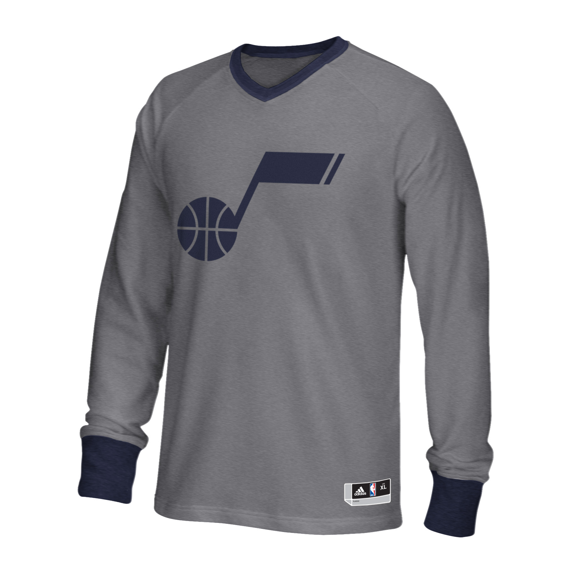 Adidas Utah Jazz 2015 On Court Christmas Day Shooter Long Sleeve T-Shirt (Gray)