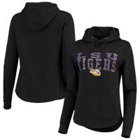 LSU Tigers Colosseum Women's Core Crossover Pullover Hoodie - Black