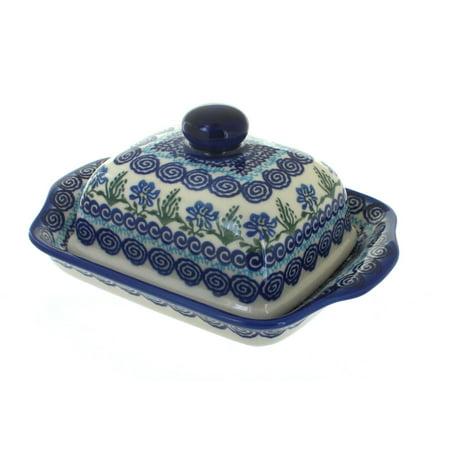 Polish Pottery Charleston Butter Dish (Pottery Barn Charleston)