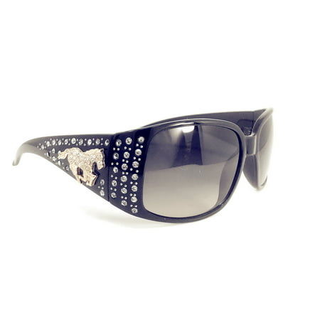 Texas West Womens Horse Sunglasses With Rhinestone Bling UV 400 PC Lens In Multi Colors