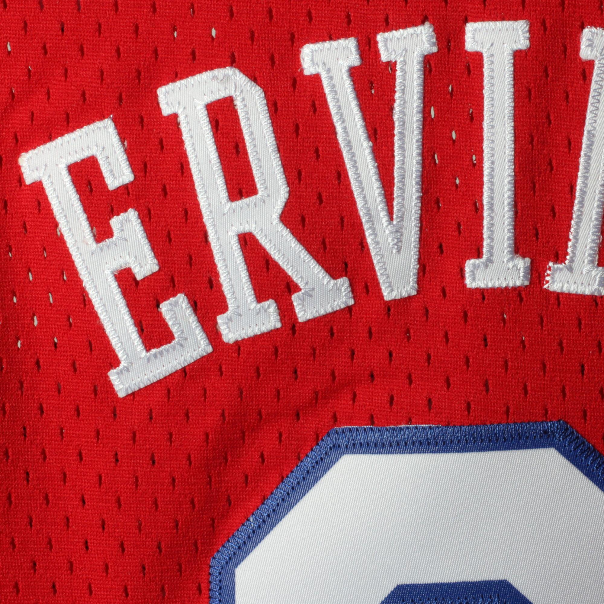 92ac6b5a1c0 Julius Erving Philadelphia 76ers Mitchell   Ness Youth Hardwood Classics  Swingman Jersey - Red - Walmart.com