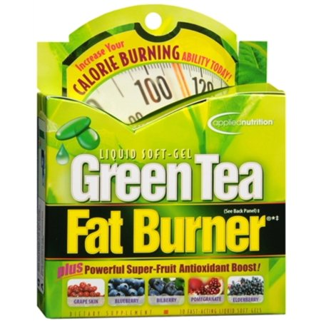 Applied Nutrition Green Tea Fat Burner Liquid Soft-Gels 30 Soft Gels (Pack of