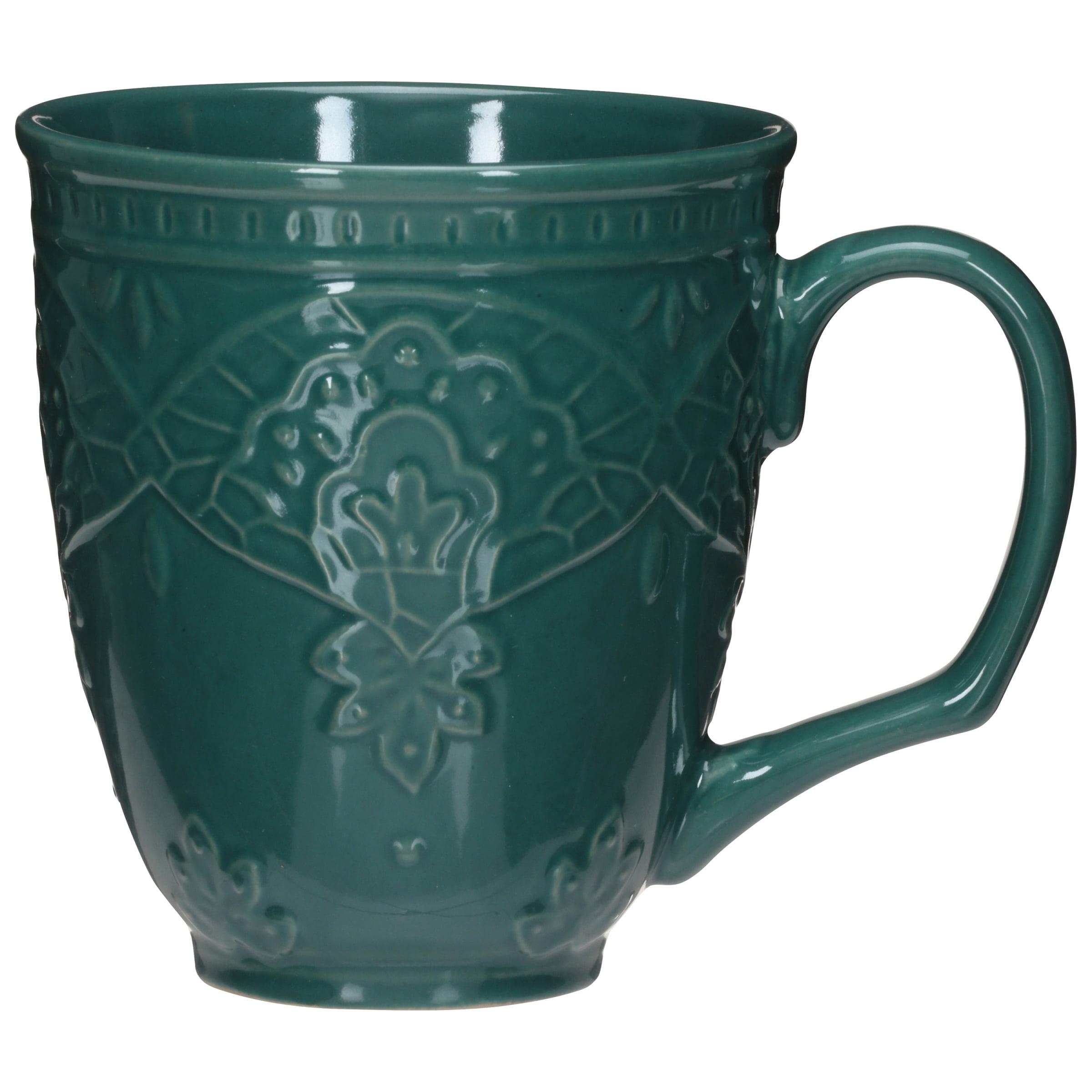 cf5b80a3359 The Pioneer Woman Farmhouse Lace Mug Set, 4-Pack